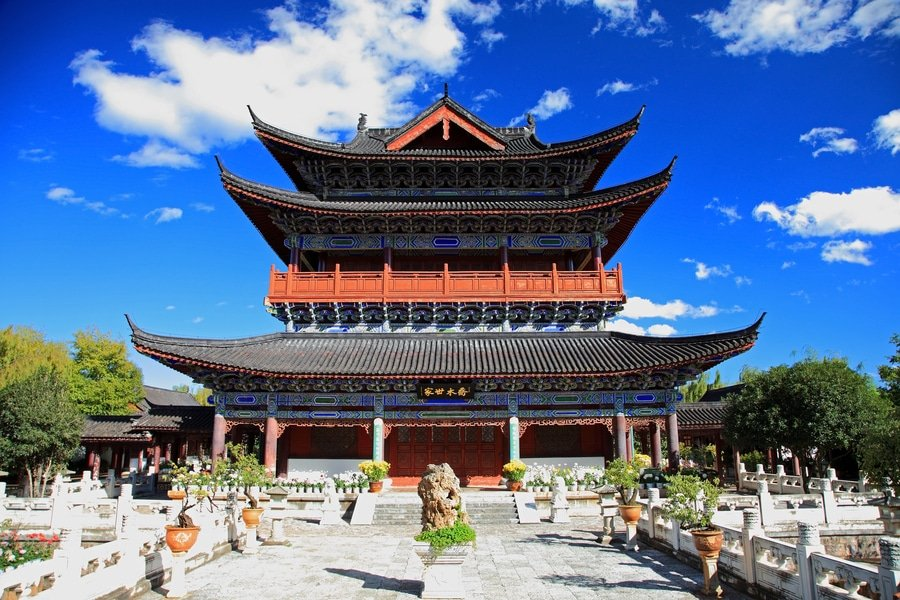Mu's residence, also known as Mufu, Lijiang, China
