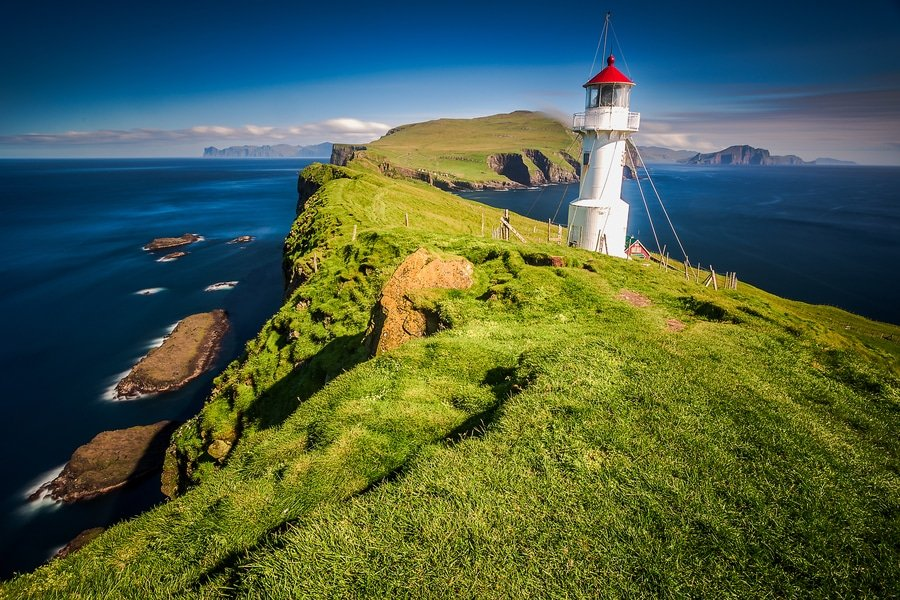 Mykines Holmur Lighthouse, Faroe Islands