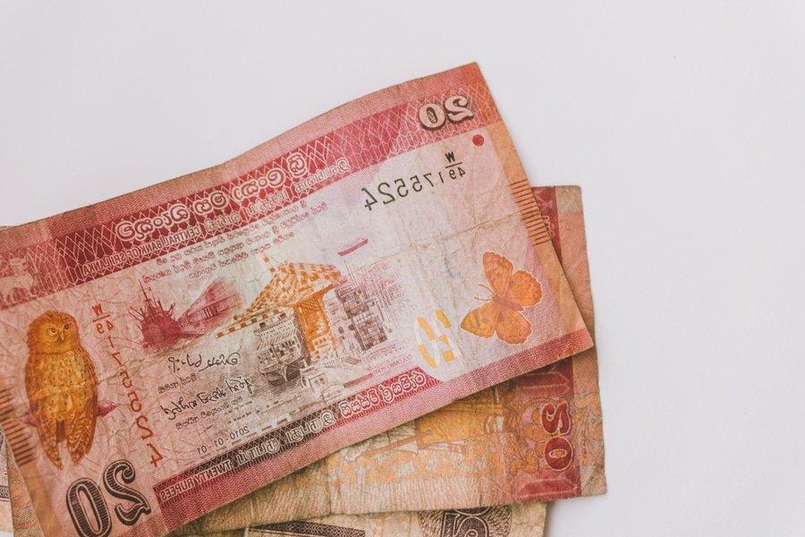 Shi Lankan Rupee currency bills