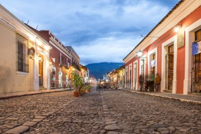 Twilight in Antigua, Guatemala