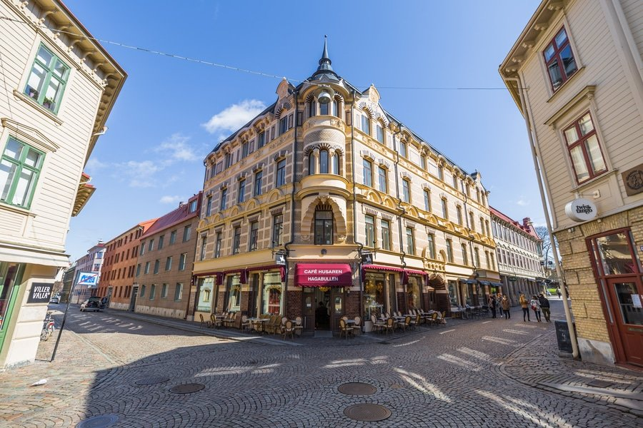Haga District in old town of Gothenburg, Sweden