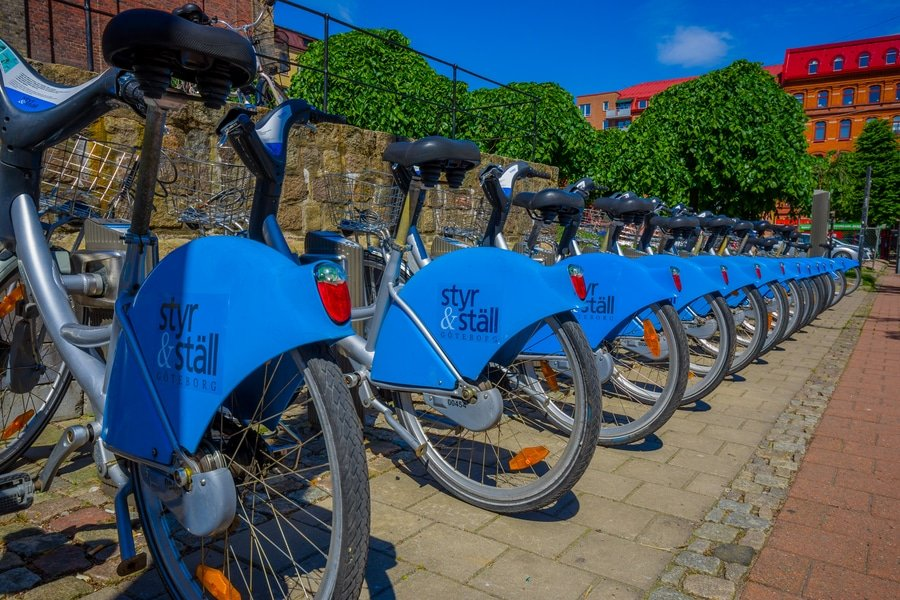Styr and stall bicycles for rent in Gothenburg