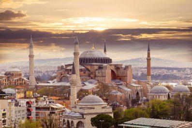 Hagia Sophia panorama, Istanbul, Turkey