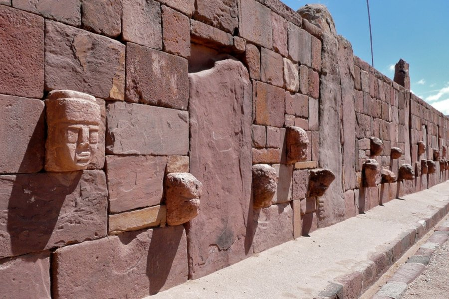 Head wall, Tiwanaku, Bolivia