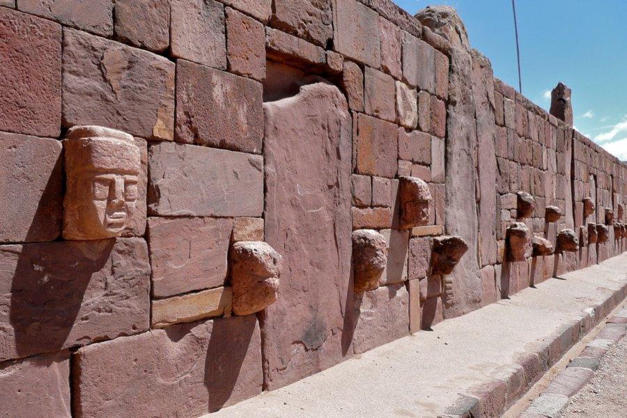 Head wall, Tiwanaku, Bolivia