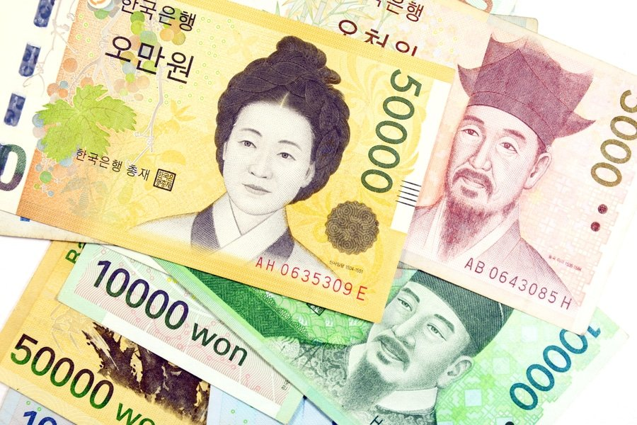 South Korean won bills