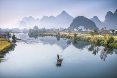 landscape Guiling and Li River, China