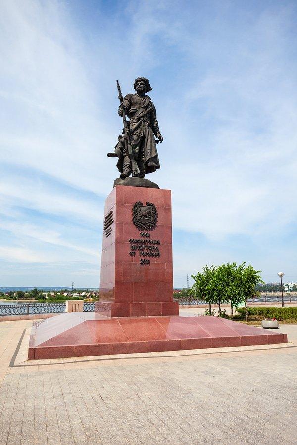 Monument To Irkutsk Founder