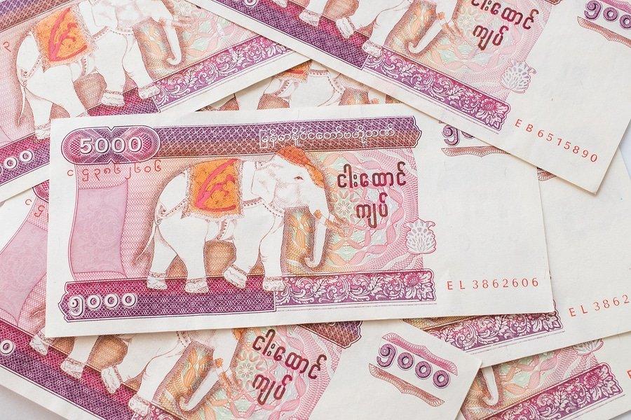 Myanmar 5000 kyat banknote