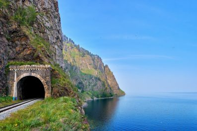 Railway tunnel, Lake Baikal, Irkutsk, Russia