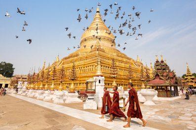 View Of Shwezigon Pagoda In Bagan, Myanmar