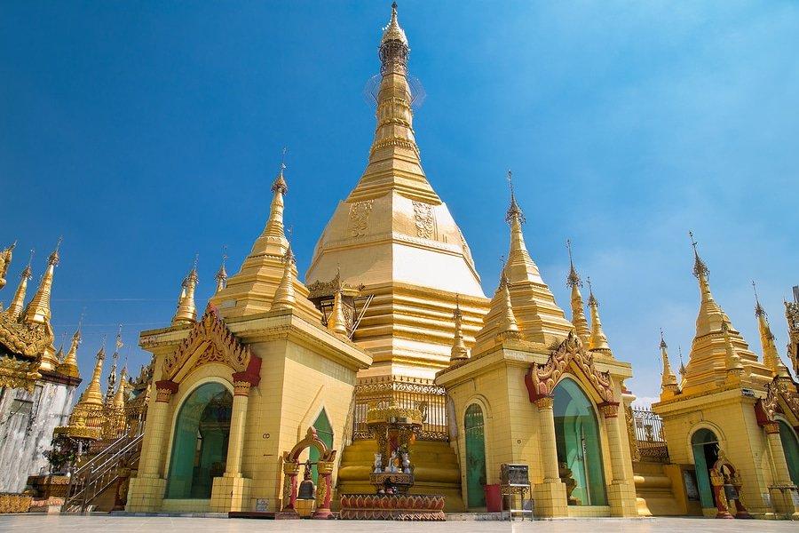 Sule pagoda in Yangon, Myanmar. (Burma)