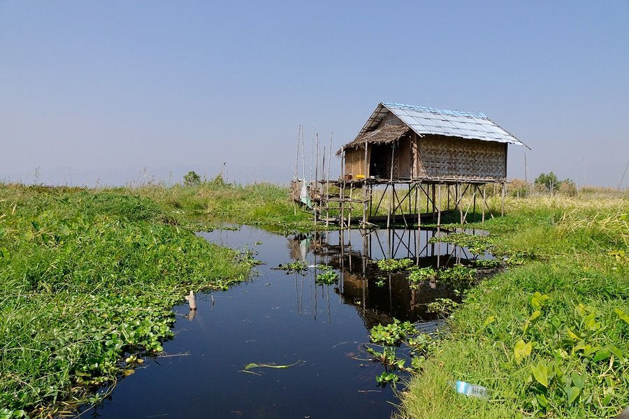 Traditional Wooden House, Inle Lake, Myanmar