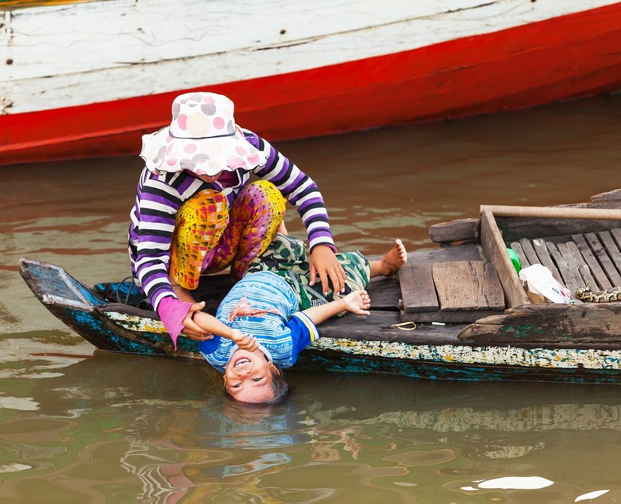 village life, Tonle Sap Lake, Cambodia