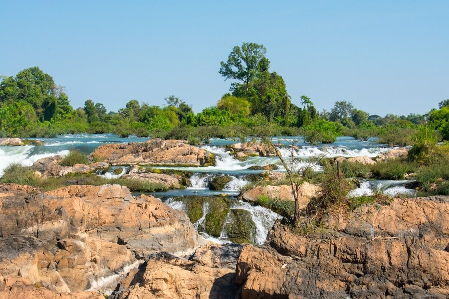 Somphamit waterfalls, 4000 islands, Laos