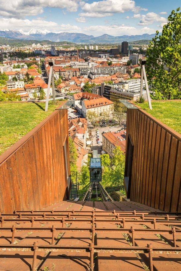 Ljubljana Castle Funicular, Slovenia