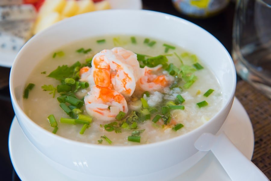 Bangkok food - Khao Tom Thai Rice Soup