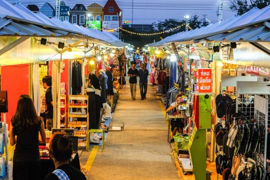 Night market, Khon Kaen, Isaan, Thailand