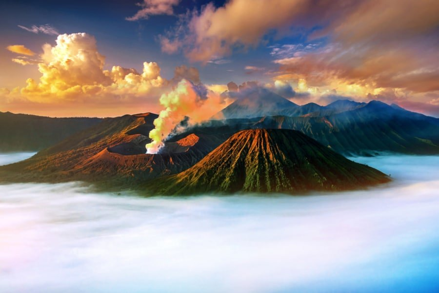 sunrise over Mount Bromo, Java, Indonesia
