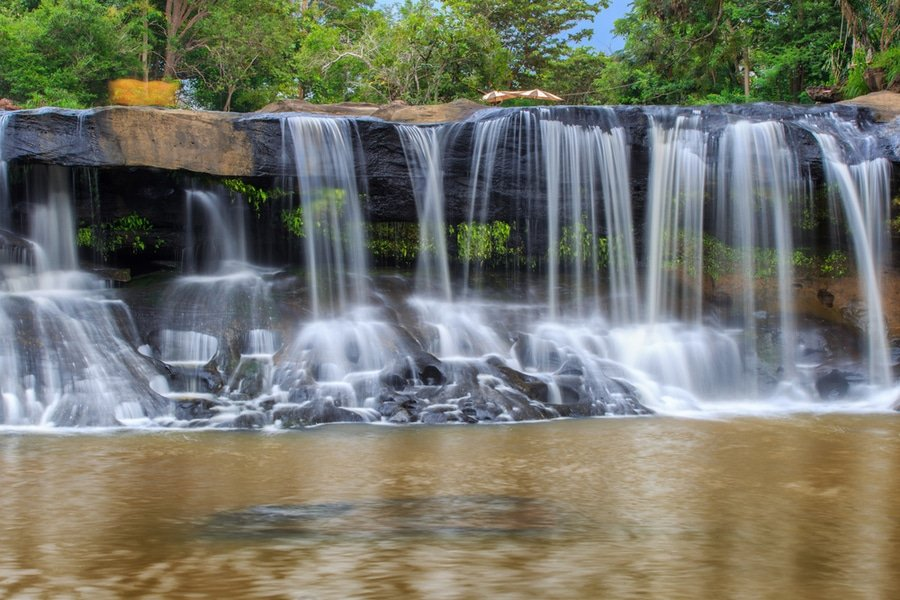 waterfalls at Tat Ton National Park, Isaan, Thailand