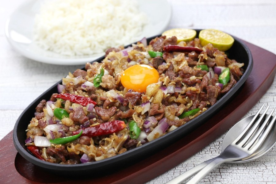 Pork sisig, a very well known Filipino food, Manila, Philippines