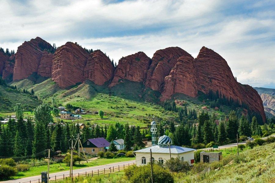 Seven Bulls Rock Formation, Kyrgyzstan