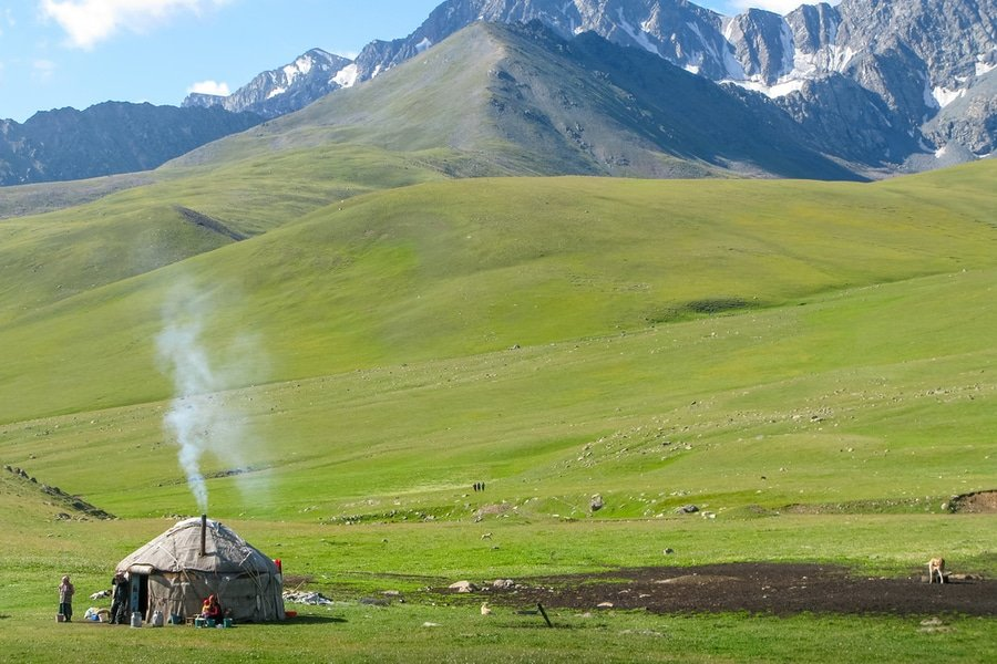 Yurt in Altyn-Arashan Valley, Kyrgyzstan