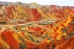 Zhangye, Rainbow Mountains, China