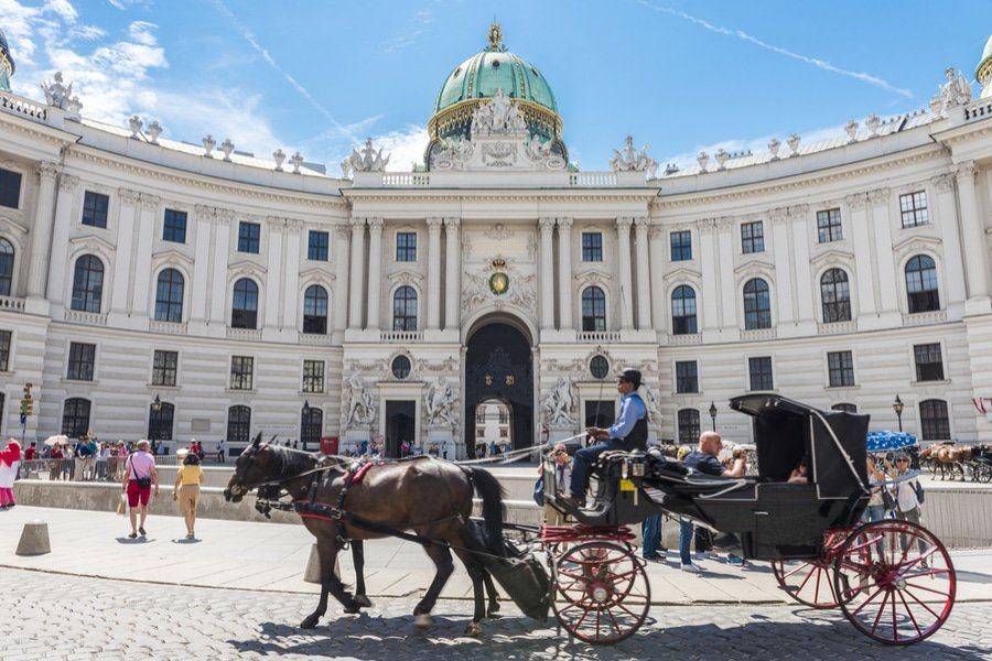 Hofburg Imperial Palace in Vienna, Austria