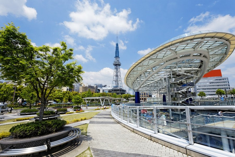 Oasis 21 and Nagoya Tower, Nagoya, Japan