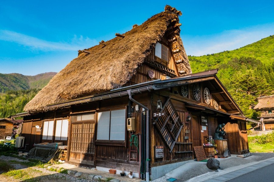 gassho-zukuri house in Shirakawa-go ,Central Japan