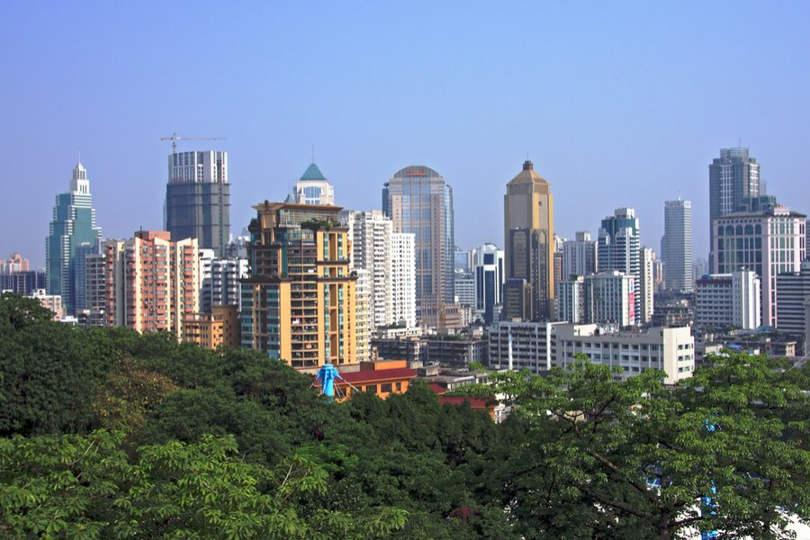 Cityscape view of Nanjing, China