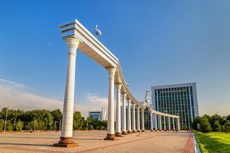 Independence Square in Tashkent, the capital of Uzbekistan