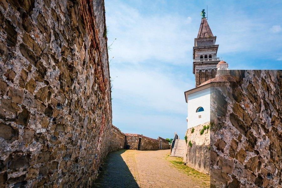 Town walls, Piran, Slovenia