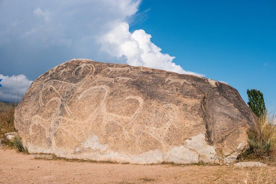 petroglyphs, Cholpon-Ata, Kyrgyzstan