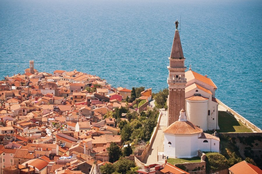 st geoge church, piran, slovenia