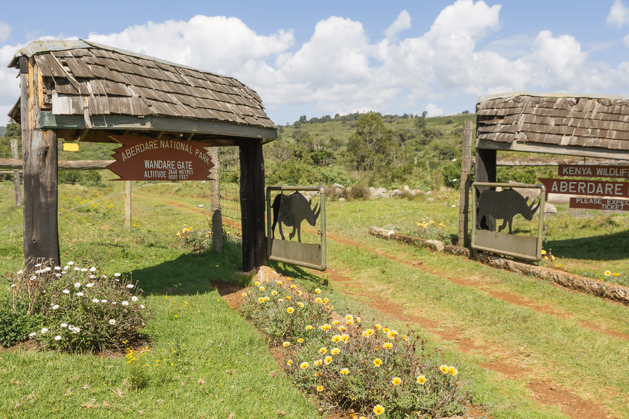 entrance gate of Aberdare National Park, Kenya