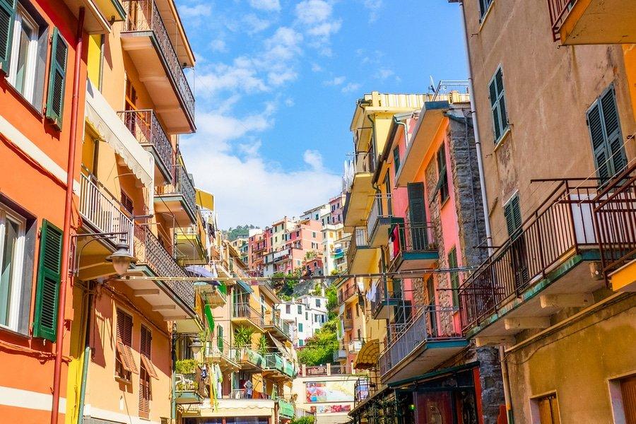main street, Manarola, Cinque Terre, Italy