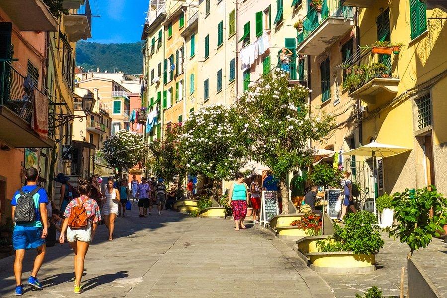 main street, Riomaggiore, Cinque Terre, Italy