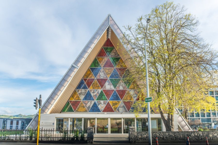 The Cardboard Cathedral in Christchurch, New Zealand