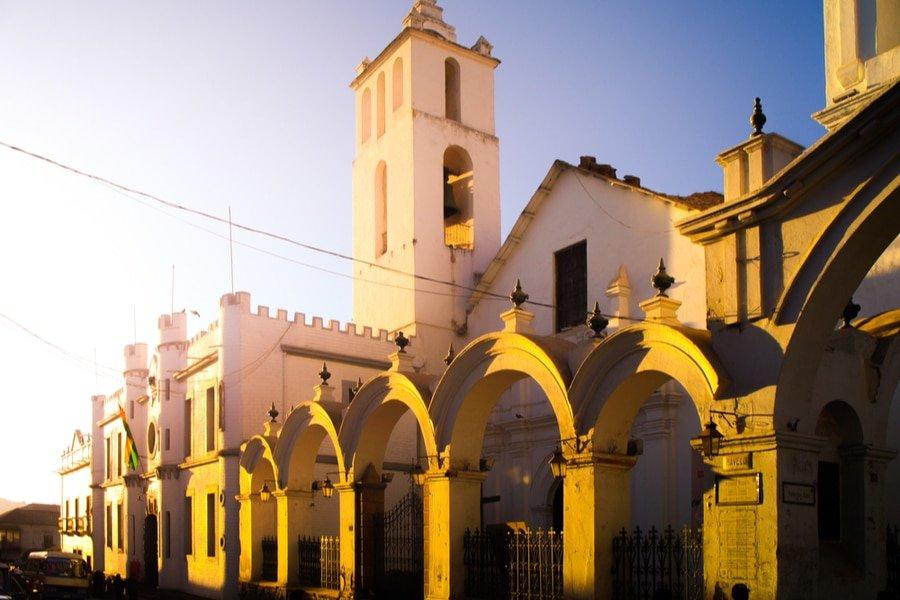 Basilica de San Francisco de Charcas in Sucre, Bolivia
