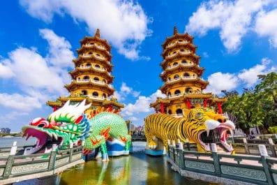 Lotus Pond's Dragon and Tiger Pagodas, Kaohsiung, Taiwan