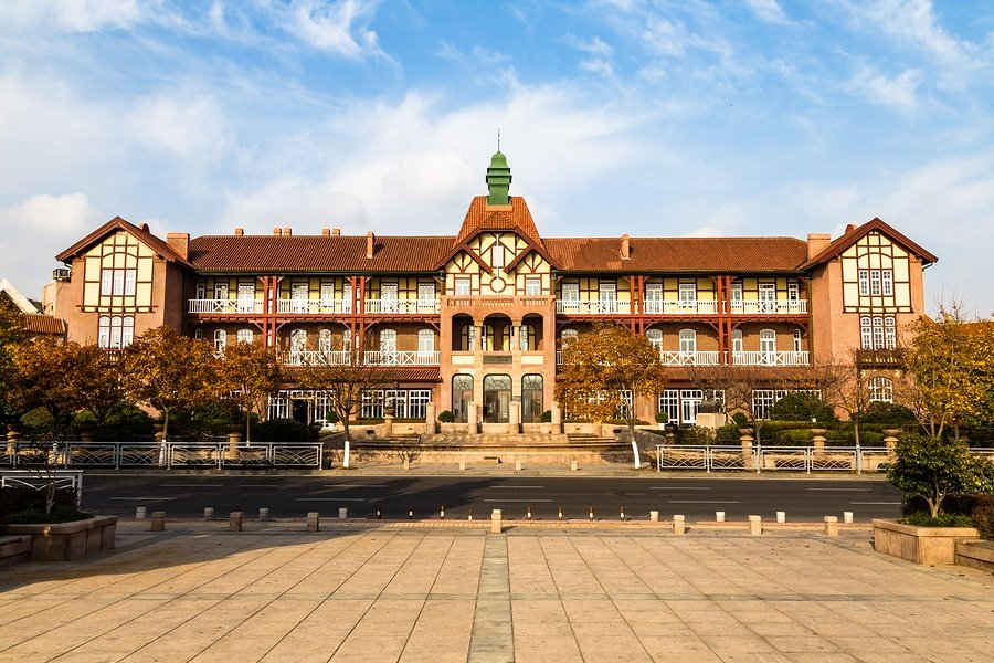 Old german guesthouse in Bathing Beach N1, Qingdao, China