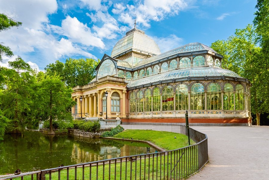 Crystal Palace (Palacio de cristal) in Retiro Park Madrid Spain