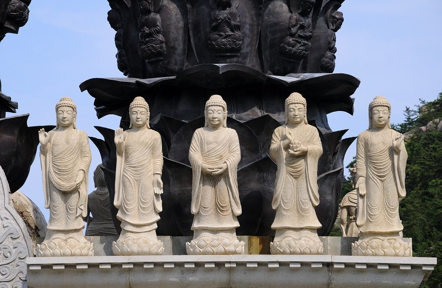 Five Buddhas, Laoshan Mountain, Qingdao, China