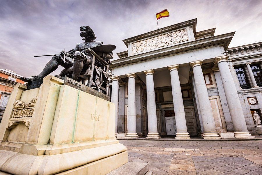 The Prado Museum facade, Madrid, Spain