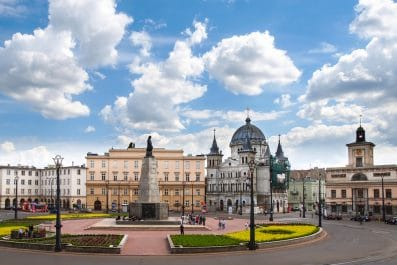 Freedom Square, Lodz, Poland