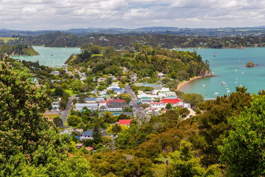 Russell town, Bay of Islands, New Zealand