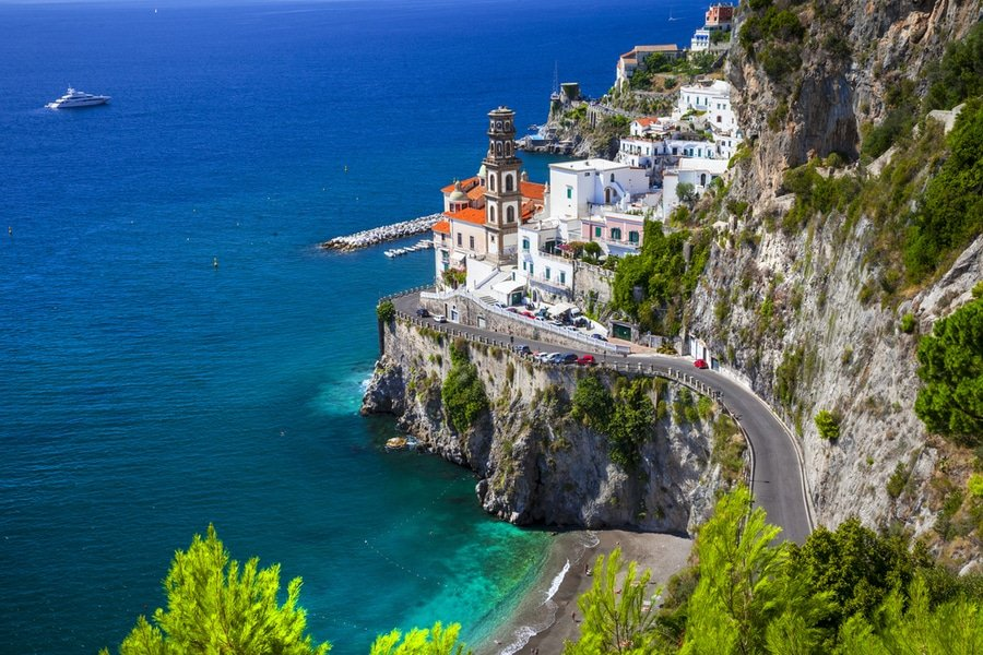 View of Atrani, Amalfi Coast, Italy