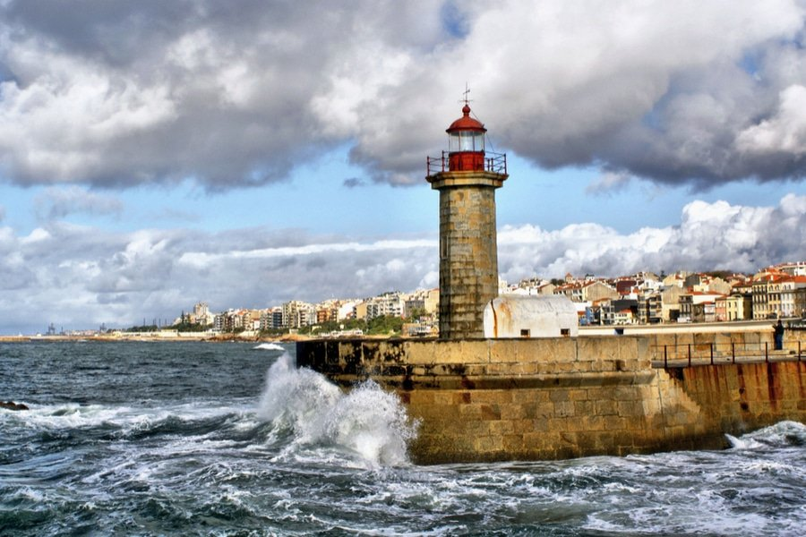 Foz do Douro lighthouse, Porto, Portugal